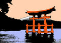 Torii at dawn Stock Photography