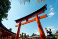 Torii gate fushimi inari shrine kyoto japan this image shows a at the in Stock Photography