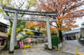 Torii gate at fushimi inari taisha shrine in kyoto japan on november the inner is reachable by a path lined with thousands Stock Images