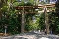 Torii Gate at Meiji Jingu Royalty Free Stock Photo