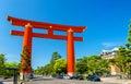 Torii of Heian Shrine in Kyoto Royalty Free Stock Photo