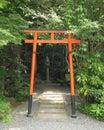 Torii at Otoyo Shrine Royalty Free Stock Photo