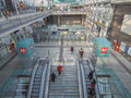 Torino porta susa station turin italy march passengers in the new main railway and subway Stock Photos