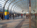 Torino porta susa station turin italy march passengers in the new main railway and subway Royalty Free Stock Images