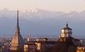 Torino turin panorama cappuccini mole piedmont italy Stock Photos