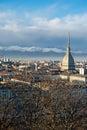 Torino (Turyn) panoramiczny widok, Włochy Obraz Royalty Free