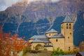 Torla Church in Pyrenees Ordesa Valley at Aragon Huesca Spain Royalty Free Stock Photo
