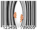 Torn Bar Code Royalty Free Stock Photos