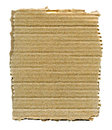 Torn cardboard isolated textured striped with edges over white Royalty Free Stock Image