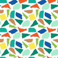 Torn colored paper seamless pattern, collage elements