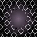 Torn fence chain vector illustration Royalty Free Stock Images