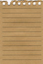 Torn Lined Parchment Paper Page Stock Photos