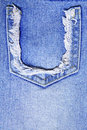 Torn old blue jeans Stock Images