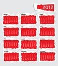 Torn paper calendar 2011 Stock Image