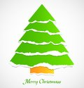Torn paper green christmas tree Royalty Free Stock Photo