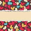 Torn paper pattern vector hearts Stock Photos