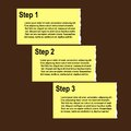 Torn paper progress option or steps background Royalty Free Stock Images