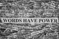 Torn pieces of paper with phrase Words Have Power Royalty Free Stock Photo