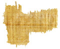 Torn Yellow Brown Papyrus Paper Royalty Free Stock Photo