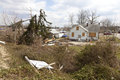 Tornado aftermath in Henryville, Indiana Royalty Free Stock Photo
