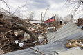 Tornado aftermath in Henryville, Indiana Stock Images