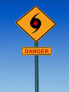 Tornado danger warning Royalty Free Stock Photo
