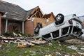 Tornado destruction Royalty Free Stock Photo