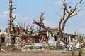 Tornado Distroyed Home After the Storm Royalty Free Stock Photo