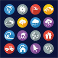 Tornado Icons Flat Design Circle
