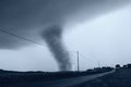 Tornado near the street Royalty Free Stock Images