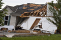 Tornado Storm Damage House Home Destroyed by Wind Royalty Free Stock Images