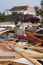Tornado Storm Damage House Home Destroyed by Wind Stock Image