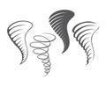 Tornado storm icons