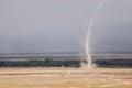 Tornado twister in the savannah of the amboseli national park kenya Stock Photo