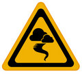 Tornado warning sign Royalty Free Stock Photo