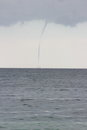 Tornadoes over the Sea Royalty Free Stock Photo