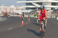 Toro loco valencia triathlon spain september athlete competing in the cycling section of the women s Royalty Free Stock Images
