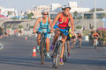 Toro loco valencia triathlon spain september athletes competing in the cycling section of the womem s Royalty Free Stock Photo