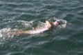 Toro loco valencia triathlon spain september a woman athlete in the swim section of the women s Stock Photos