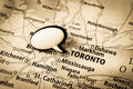 Toronto Canada map Stock Photography
