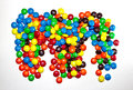 TORONTO, CANADA - March 10, 2017: A pile of colorful coated chocolates M&M Royalty Free Stock Photo