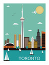 Toronto city canada vector illustration Stock Photo
