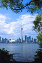 Toronto City with Frame Royalty Free Stock Image