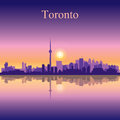 Toronto city skyline silhouette background Royalty Free Stock Photo