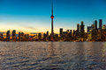 Toronto city skyline at sunset, Ontario, Canada Royalty Free Stock Photo