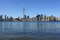 Toronto cityscape under clear sky Royalty Free Stock Image