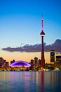 Toronto cityscape view of from a viewpoint at island Royalty Free Stock Photography