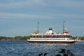 Toronto Ferry at Lake Ontario from Center Island Royalty Free Stock Photo
