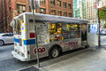 Toronto food trucks mobile truck seen daily on street in ontario Stock Photos