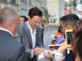 Toronto international film festival september actor benedict cumberbatch signs autographs at the for his new years a Stock Photography